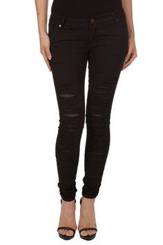 Ripped Mesh Skinny Jean | Maniere De Voir
