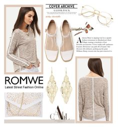 """ROMWE - Grey Round Neck Long Sleeve Loose T-Shirt: 13/10/16"" by pinky-chocolatte ❤ liked on Polyvore"