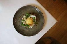 Autumn tasting menu at Harvey Nichols. Dorset Crab salad >> More info: https://teatimeinwonderland.co.uk/lang/en/2014/11/04/fifth-floor-autumn-tasting-menu-at-harvey-nichols