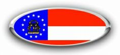 Ford Georgia State Flag Emblem Decals