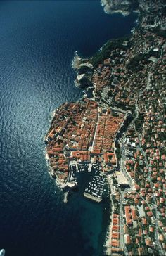 A bird's-eye view of Dubrovnik - city viewed from above