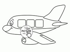 Airplane coloring page for preschoolers, transportation coloring ...
