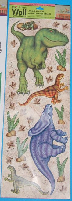 NEW Dinosaurs Jumbo Stickers Main Street Wall Creations Part 97