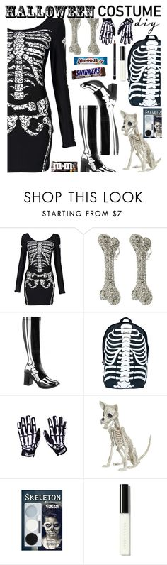 """Halloween DIY Skeleton Costume"" by deborah-calton ❤ liked on Polyvore featuring Vivienne Westwood, Funtasma, Comeco, Bobbi Brown Cosmetics, Givenchy, Halloween, skeleton, halloweencostume and DIYHalloween"