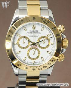 Rolex Daytona 116523, Herrenuhr, Chronograph, Automatik, Gehäuse und Armband Stahl-Gold, Armband mit Faltschließe, verschraubte Krone und Drücker