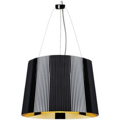 Kartell G? Suspension Lamp - Black/Golden ($315) ❤ liked on Polyvore featuring home, lighting, ceiling lights, gold, black chandelier lamp, black lamp shade, black ceiling lights, black lights and colored chandelier