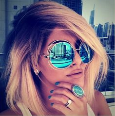 Retro Vintage Oversized Round Sunglasses Women Brand Designer Wholesale Sun…