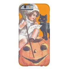 Witch Black Cat Jack O Lantern Pumpkin iPhone 6 Case
