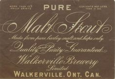 Pure Malt Stout by Thomas Fisher Rare Book Library, via Flickr