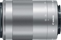 Canon - EF-M 55-200mm f/4.5-6.3 IS STM Telephoto Zoom Lens for Canon EOS M Series Cameras - Silver