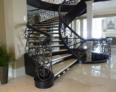 Curved Stairs Design, Pictures, Remodel, Decor and Ideas - page 26