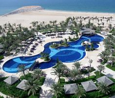 Waldorf Astoria Ras Al Khaimah, Ras Al Khaimah #Dubai - The palatial Waldorf Astoria Ras Al Khaimah offers true luxury on the shores of the Arabian Sea. The resort is set on a 350 metre private beach and the spacious rooms offer panoramic views of the Arabian Sea, championship golf course and the Al Hajar Mountains.  http://www.sovereign.com/hotelDetails.vm?code=HOT0035495&packageID=21&trackLink=1