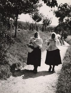 The Road Home, Marianka, Czechoslovakia, photograph by Karol Aufricht. Baby Carrying, Heart Of Europe, Do Homework, Bratislava, Mother And Father, Women Life, Baby Wearing, Czech Republic, Slovak Recipes