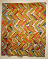 """Unknown maker, Streak of Lightning, c. 1920 Cotton 79""""x 67"""" Gift of Lucy Hilty SJMQT Collection 2003.306.023"""