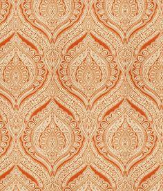 Orange Ikat Fabric Upholstery Yardage by greenapplefabrics on Etsy, $54.00