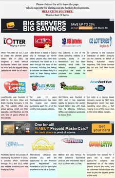 Click the new lottery website. http://www.bestoflotto.com/lottery-websites.html