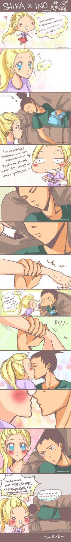 Naruto: Shika x Ino 2 by miwang.deviantart.com on @deviantART