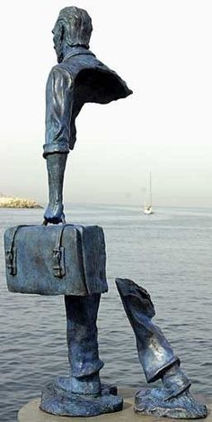 Bruno Catalano's Half Sculptured Travelers | Amusing Planet:
