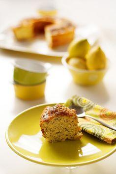 bolo de limão e sementes de papoila - Sabores de Canela