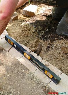 DIY Retaining Wall Construction for a Beautiful Garden - Jennifer Maker Retaining Wall Construction, Backyard Retaining Walls, Building A Retaining Wall, Backyard Walkway, Garden Retaining Wall, Diy Patio, Backyard Ideas, Garden Ideas, Landscaping Blocks