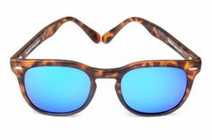 Our new release of our classical shape memento audere semper mixed with blu mirrored lens, for a shiny and avantgarde summer chilling on the bea. Blue Mirrors, Tortoise, Sunnies, Mirrored Sunglasses, Lens, Image, Beauty, Style, Shop