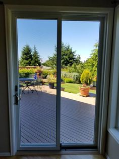 Two Panel Gliding Patio Door opens up to the porch and allows for maximum visibility with the TruScene Insect Screen.