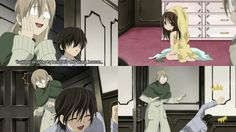 Kaname laughs at yuki trying to get dressed to understand it see it left right left right