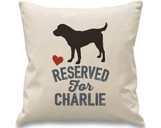 Labrador Cushion. Personalised Labrador Cushion. Labrador Personalised Gift. Reserved for dog cushion. Reserved for labrador cushion Dog Cushions, Personalized Gifts, Handmade Gifts, Dog Breeds, Unique Jewelry, Dogs, Etsy, Design, Kid Craft Gifts