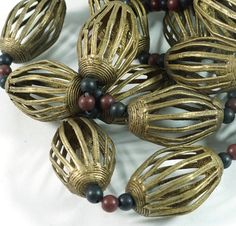 Brass Filligree Beads imported from Ghana W. Africa by Funky Frog