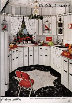 It's a birdcage kitchen from the Armstrong Flooring retro ad files!
