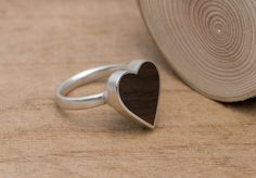 wood heart ring £39.00