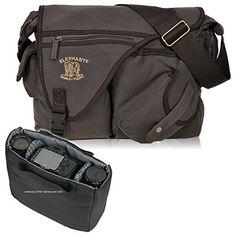 http://ift.tt/1JqYETl D-SLR Umhängetasche ELEPHANT Canvas Fototasche MALAWI für Spiegelreflex Kameras oder Videokamera AUSWAHL (Darkbrown ( Braun )) %%zunjaoli#