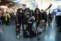 This KISS group costume will have everyone jealous of your clique on Halloween.