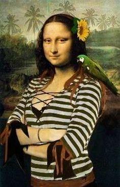 Mona Lisa en las playa.