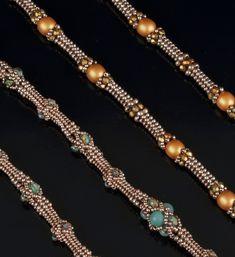 Royal Herringbone Ropes - Twin Tutorials for two Beautiful Ropes Seed Bead Necklace, Rope Necklace, Seed Bead Jewelry, Bead Jewellery, Beaded Necklace, Beaded Bracelets, Necklaces, Herringbone Necklace, Herringbone Stitch