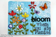 Art Journal Page: Bloom