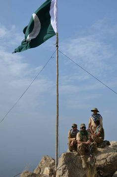 Pakistan army ....they keeps the flag high