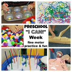 "Mom to 2 Posh Lil Divas: ""I Can"" Week in Preschool - Fine Motor Practice & Fun"