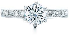 Wedding ring, Favorite Tiffany Round Brilliant With   Bead-set Band