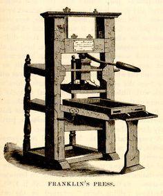 Benjamin Franklin's printing press