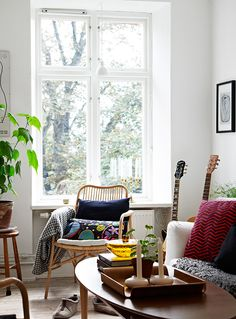 Comfy and casual space.