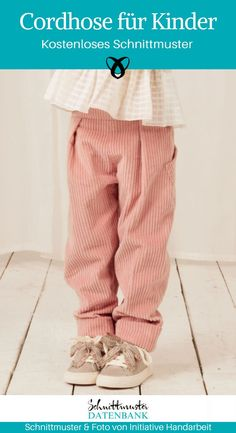 Cordhose für Kinder Pants for kids sew with elastic corduroy pants boys girls free sewing pattern do Sewing Patterns Free, Free Sewing, Sewing Tips, Toddler Fashion, Kids Fashion, Fashion 2016, Fashion Hats, Fashion Wear, Fashion Clothes
