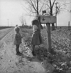 """... And because of the mailbox, / and the road, and the tree. It is hard to despair / ... from """"The Tree"""" by Tryfon Tolides. Photograph by Dorothea Lange."""