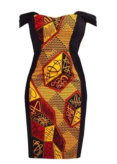 Dresses - Adisa African Print Formal Dress With Straps (Red/Yellow) African Dresses For Women, African Print Fashion, African Attire, African Fashion Dresses, Fashion Prints, Fashion Outfits, African Outfits, Ankara Fashion, Fashion Styles