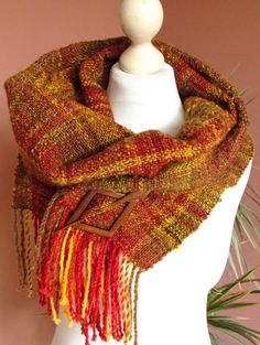 Hey, I found this really awesome Etsy listing at https://www.etsy.com/listing/215632897/handwoven-scarf-made-of-handspun-art