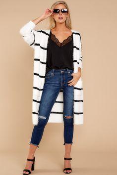 Trendy Black Stripe Cardigan - Chic Cardigan - Cardigan -  46.00 – Red  Dress Boutique Cardigan 9c6906c1e