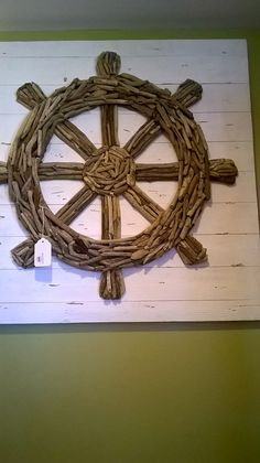 Hey, I found this really awesome Etsy listing at https://www.etsy.com/listing/239403059/ship-wheel-drift-wood-wall-art