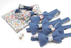 7d88b2bae8a50 Noeud papillon, pochette de costume et boutons de manchette couleurs  coordonnées témoins et marié -