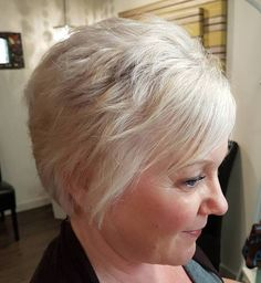 Short Blonde Over Hairstyle