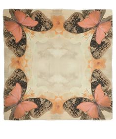 Athena Procopiou Pink Butterfly Print Scarf | Scarves by Athena Procopiou | Liberty.co.uk